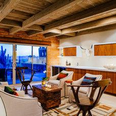 Southwestern Living Room by Lindsey Schultz Design