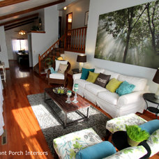 Transitional Living Room by Front Porch Interiors, LLC