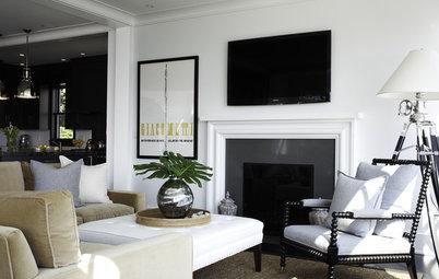 Sleek, Beautiful Stone Slab Fireplace Surrounds