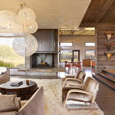 Rustic Living Room by David Agnello Photography