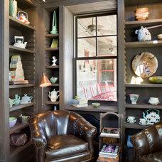 Rustic Living Room by Bob Greenspan Photography