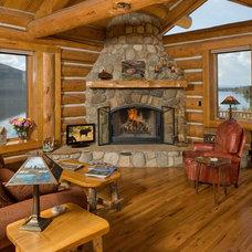 Rustic Living Room by Steven Paul Whitsitt Photography
