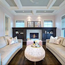 Transitional Living Room by Rockwood Custom Homes