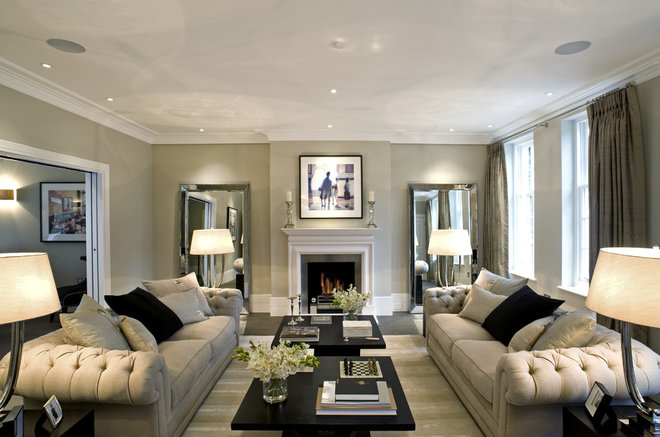 Transitional Living Room by Inspired Dwellings