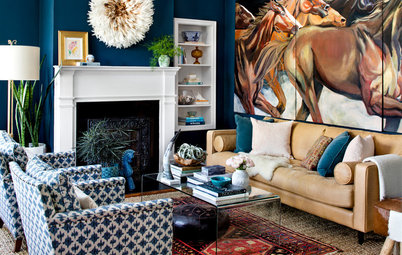 Houzz Tour: Bold Strokes for a Designer's Home in Baltimore