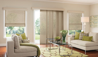 Roller and Solar Shades in Modern Living Room