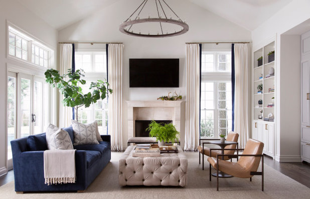 Transitional Living Room by Tribe Design Group