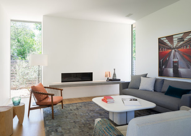 Contemporary Living Room by Tim Cuppett Architects