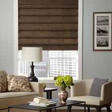 Eclectic Living Room by Lone Star Blinds