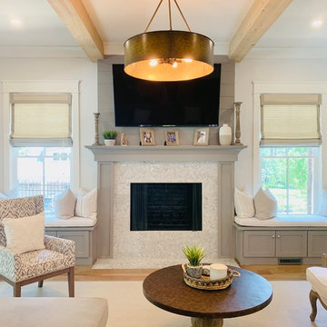 Roman Shades, Natural Woven Shades, and Plantation Shutters in Brookhaven Estate
