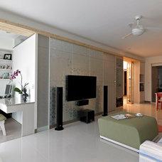 Asian Living Room by 大衛麥可國際設計工程有限公司