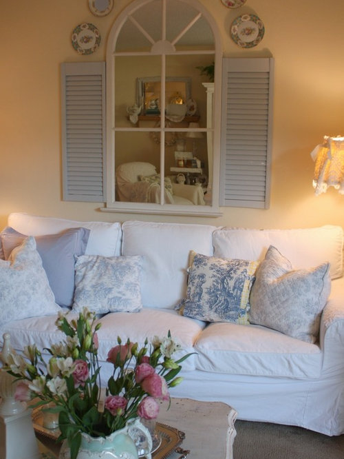 Recycled shutters design ideas remodel pictures houzz for Recycled living room ideas