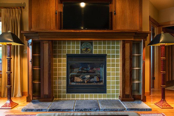 Craftsman Living Room by Wren & Willow Inc,
