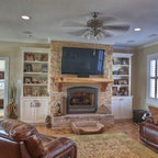 Family Style Beach House Traditional Living Room