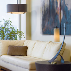 Contemporary Living Room by Accent Lighting Oregon