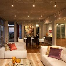 Modern Living Room by Gary Rosard Architect