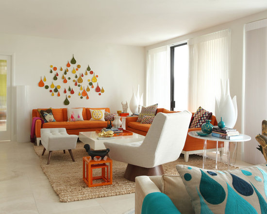 Decorating Orange And Blue HouzzBlue Living Room Decor 15 Stunning Designs
