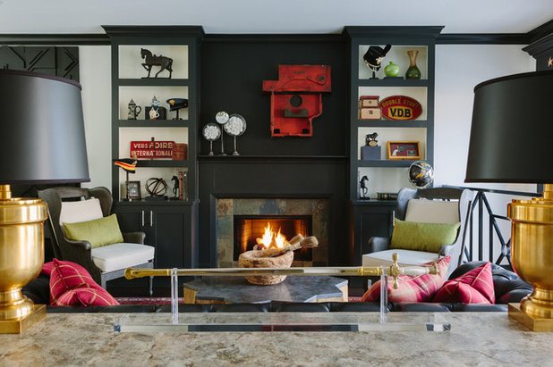 Eclectic Living Room by Anthony Michael Interior Design, Ltd.