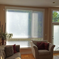 Transitional Living Room by Skyline Window Coverings & Design
