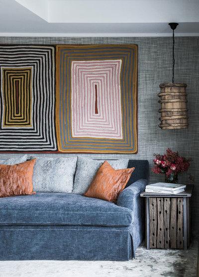 Contemporary Living Room by Marylou Sobel Interior Design