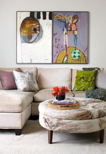 Modern Family Room by Lisa Ferguson Interior Design