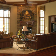 Traditional Living Room by Toebben Builders
