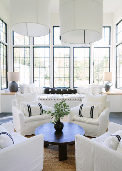 Beach Style Living Room by Clare Kennedy Interior Design
