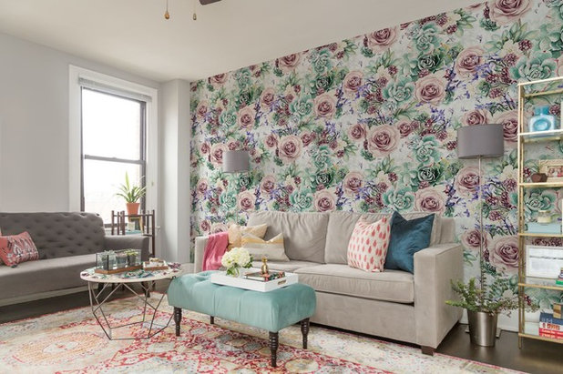 Transitional Living Room by Pixers