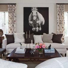 Farmhouse Living Room by Martin Kobus Home