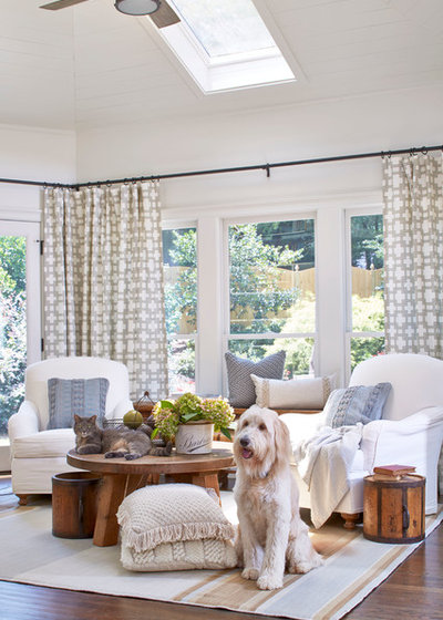 Farmhouse Living Room by Lisa Gabrielson Design