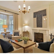 Traditional Living Room by Window Dressings