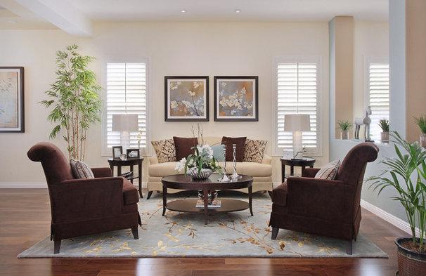 Transitional Living Room by International Custom Designs