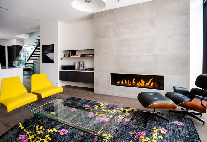 Modern Living Room by Shirley Meisels