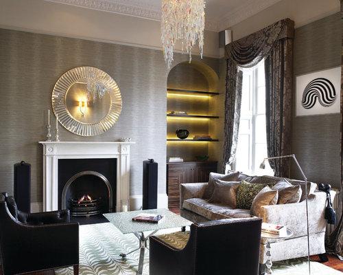 Houzz   Crushed Velvet Sofa Design Ideas & Remodel Pictures
