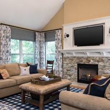Traditional Living Room by reDesign home llc