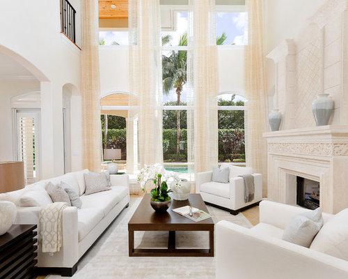 White Sofa Living Room | Houzz