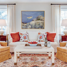 Traditional Living Room by Leandra Fremont-Smith Interiors