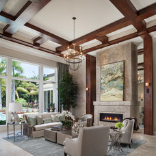 Transitional Living Room by Courchene Development Corp