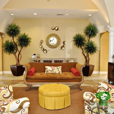 Eclectic Living Room by Purdy Designs LLC