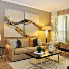 Contemporary Living Room by Purdy Designs LLC