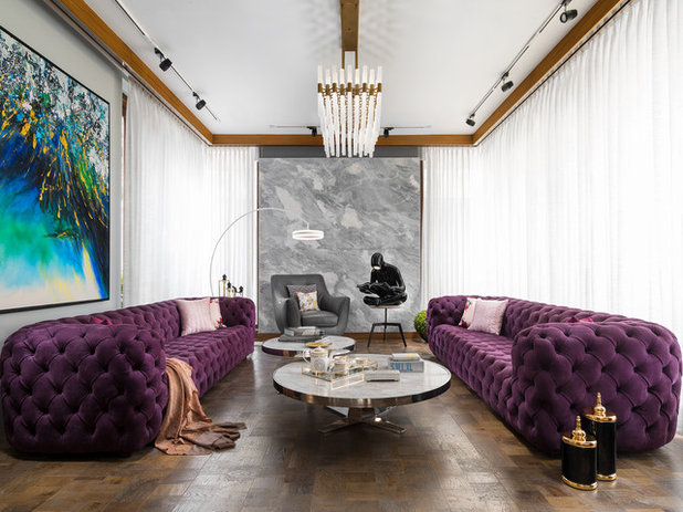 Contemporary Living Room by PURPLE STUDIO