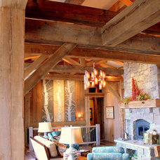 Eclectic Living Room by Montana Reclaimed Lumber Co.