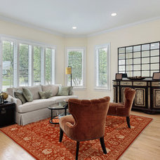 Eclectic Living Room by Rugknots Oriental Rugs