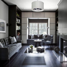 Transitional Living Room by Tamara Magel Studio