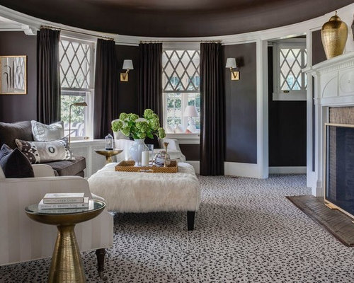 inspiration for a beach style formal and enclosed carpeted and multicolored floor living room remodel in - Living Room Carpet Ideas