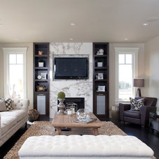 Contemporary Living Room by Riverview Custom Homes