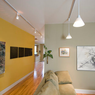 Inspiration for a contemporary living room remodel in Philadelphia