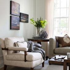 Transitional Living Room by Lisa Stevens & Company, Inc.