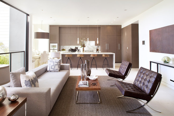 Contemporary Living Room by John Maniscalco Architecture