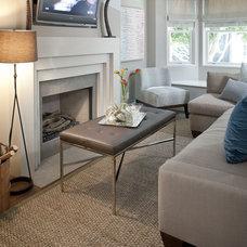 Modern Living Room by lisa gutow design